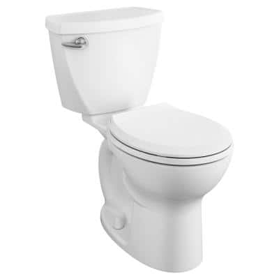 Cadet 3 Tall Height 2-Piece 1.28 GPF Single Flush Round Toilet in White, Seat Included (6-Pack)