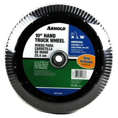 10 in. Pneumatic Universal Hand Truck Wheel with 5/8 in. Ball Bering and Sawtooth Tread