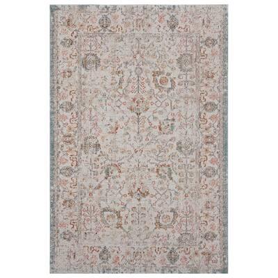 Antiquity Beige/Cream 9 ft. x 12 ft. Distressed Persian Polypropylene Indoor/Outdoor Area Rug