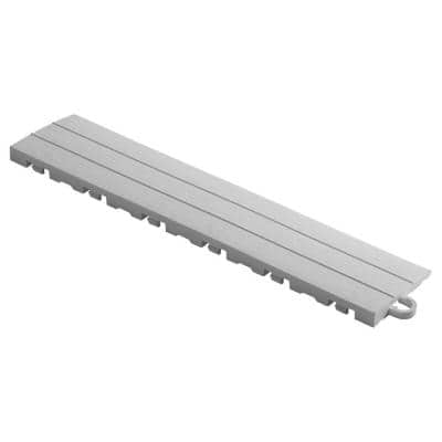2.75 in. x 12 in. Pearl Silver Pegged Polypropylene Ramp Edging for Diamondtrax Home Modular Flooring (10-Pack)