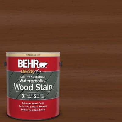 Behr Deckplus 1 Gal St 135 Sable Semi Transparent Waterproofing Exterior Wood Stain 307701 The Home Depot