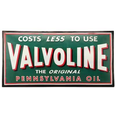 Valvoline Domed Tin Sign