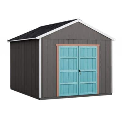 Do-it Yourself Rookwood 10 ft. x 14 ft. Wooden Storage with Flooring Included