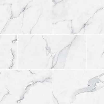 Salt Throne Marble 12 in. W x 23.82 in. L Luxury Vinyl Plank Flooring (23.82 sq. ft.)