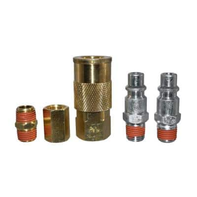 3/8 in. Industrial Style Quick-Connector Kit (5-Piece)