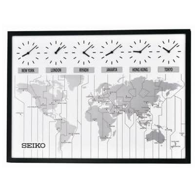 World's View Wall Clock