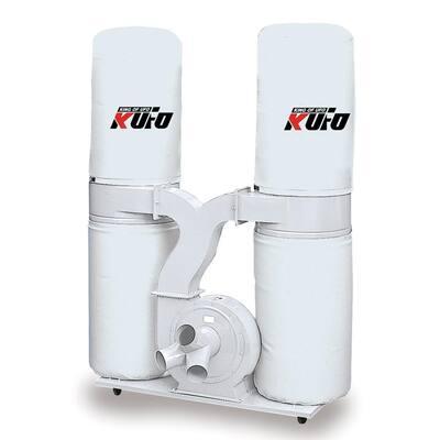 3 HP 2750 CFM 3-Phase 220-Volt / 440-Volt Vertical Bag Dust Collector (Prewired 220-Volt)