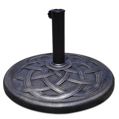 43 lbs. Resin and Steel Heavy-Duty Round Patio Umbrella Base