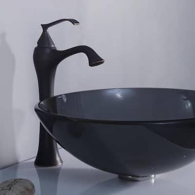 Ventus Single Hole Single-Handle High-Arc Vessel Bathroom Faucet in Oil Rubbed Bronze