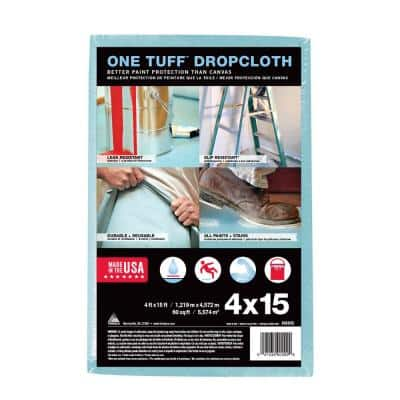 One Tuff 4 ft. x 15 ft. Professional Grade Drop Cloth