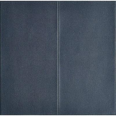28 in. x 28 in. Dark Blue 3D Embossed Texture LinenLook Vinyl Peel and Stick Wall Panel (20-Piece)