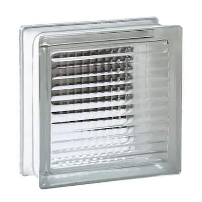 7.75 in. x 7.75 in. x 3.875 in. Cross Ribbed Pattern Glass Block (8-Pack)