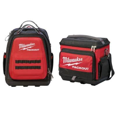 Milwaukee 15-in PACKOUT Backpack w/ PACKOUT Cooler Bag