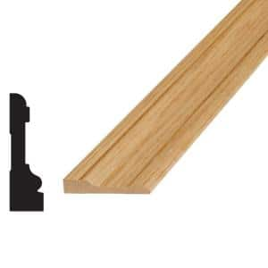3/4 in. x 2-3/4 in. x 96 in. Oak Wood Casing Moulding