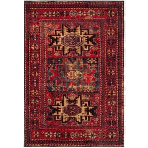 Safavieh Vintage Hamadan Red Multi 8 Ft X 10 Ft Area Rug Vth211a 8 The Home Depot