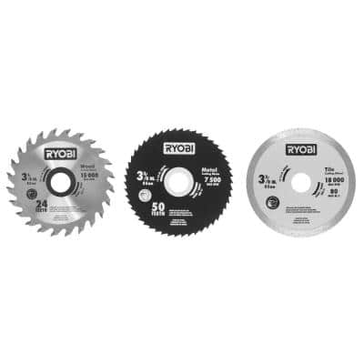 3-3/8 in. Multi-Material Saw Replacement Blade Set (3-Pack)