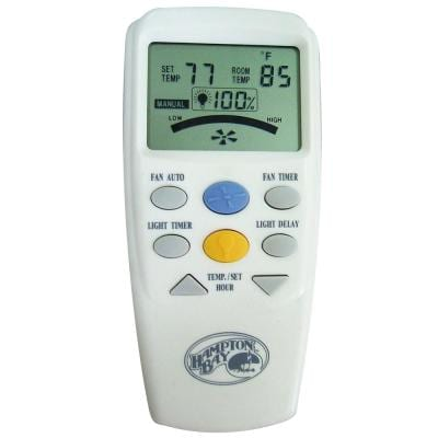 3-Speed Universal Ceiling Fan Thermostatic Remote Control with LCD Display