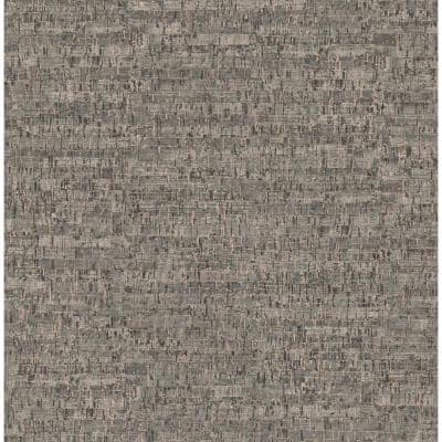 Henrique Taupe Faux Cork Taupe Wallpaper Sample
