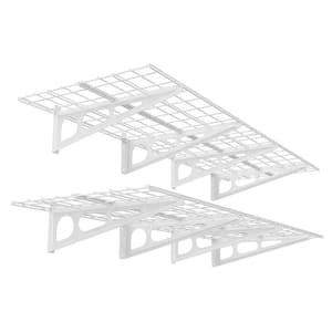 24 in. x 72 in. Steel Garage Wall Shelving in White (2-Pack)