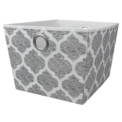 Arabesque 15 in. D x 13.5 in. W x 10 in. H Fabric Grey Closet System
