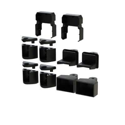 Tristan Satin Black Angle Bracket Kit