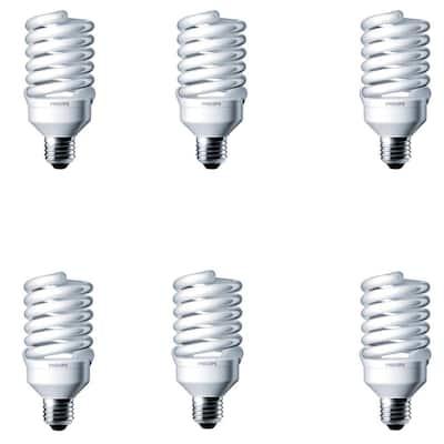 100-Watt Equivalent T2 Spiral CFL Light Bulb Soft White (2700K) (6-Pack)
