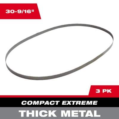 30-9/16 in. 8/10 TPI Compact Extreme Thick Metal Cutting Band Saw Blade (3-Pack) For M12 FUEL Bandsaw
