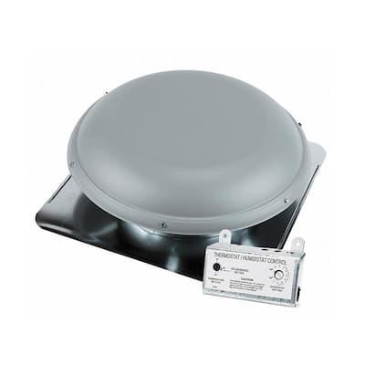 1500 CFM Gray Power Roof Mount Attic Ventilator