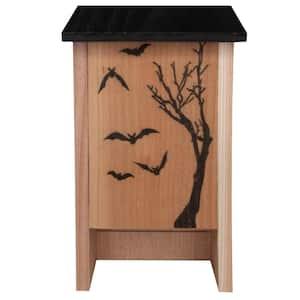 Decorated Cedar Bat House, Holds 50-Bats