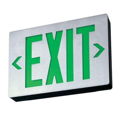 Signature Die-Cast Aluminum LED Green Single Face Exit Sign