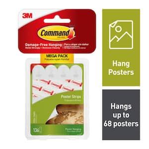 Small White Poster Strips Mega-Pack (136 Poster Strips/Pack)