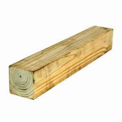 4 in. x 4 in. x 8 ft. #2 Pressure-Treated Timber