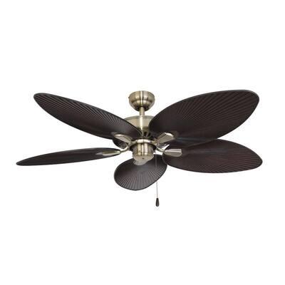Tortola 52 in. Aged Brass Ceiling Fan