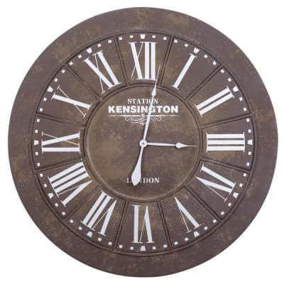 39.5 in. x 39.5 in. Circular Iron Wall Clock