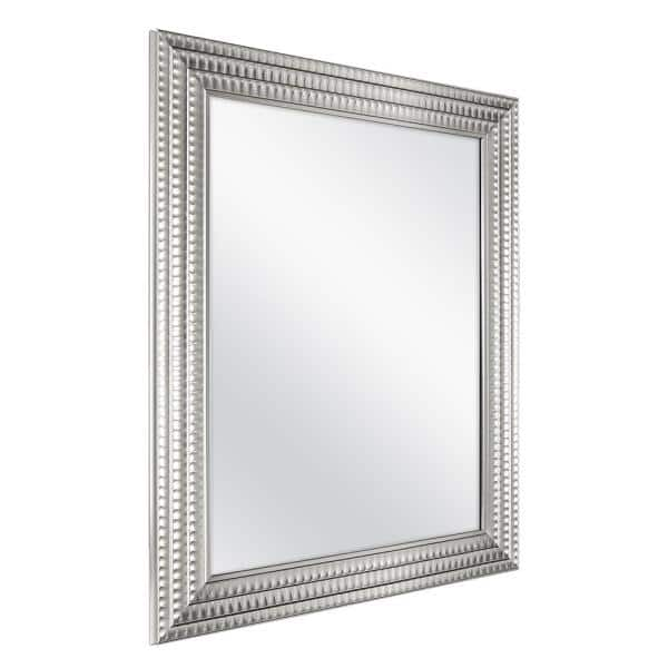 Home Decorators Collection 22 In W X 27 In H Framed Rectangular Anti Fog Bathroom Vanity Mirror In Silver 45384 The Home Depot