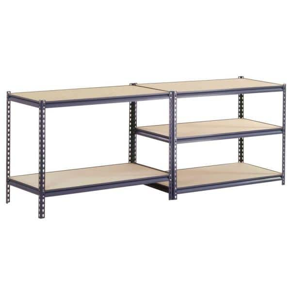 Edsal 72 In H X 60 In W X 36 In D Steel Commercial Shelving Unit In Gray Ur3660 The Home Depot