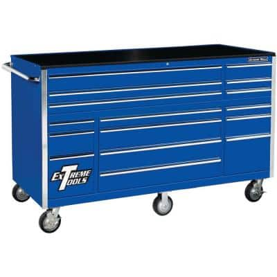 THD Series 72 in. 16-Drawer Roller Cabinet Tool Chest, Blue