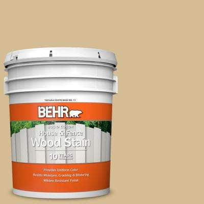 5 gal. #330F-4 Pebble Path Solid Color House and Fence Exterior Wood Stain