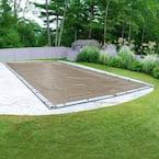Defender 25 ft. x 50 ft. Rectangular Sand Winter Pool Cover