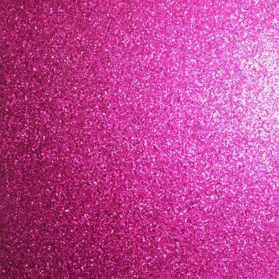 Sequin Sparkle Hot Pink Fabric Strippable Roll (Covers 33 sq. ft.)