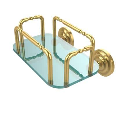 Que New Wall Mounted Guest Towel Holder in Polished Brass