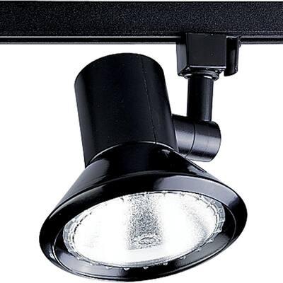 Alpha Trak Collection Black 1-Light Track Lighting Head