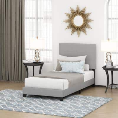 Laval Glacier Twin XL Button Tufted Bed Frame