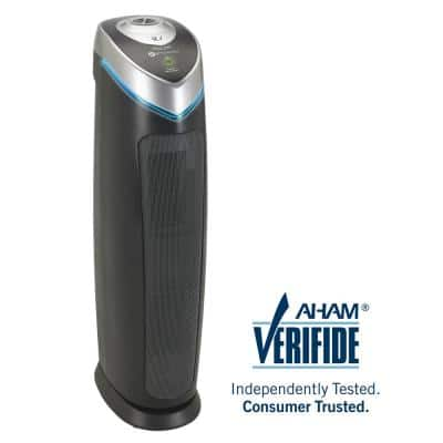 4-in-1 True HEPA Air Purifier System with UV Sanitizer and Odor Reduction, 28 in. Tower