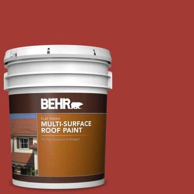 5 gal. #PFC-03 Red Baron Flat Multi-Surface Exterior Roof Paint