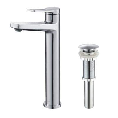 Indy Single Hole Single-Handle Bathroom Faucet with Pop-Up Drain in Chrome