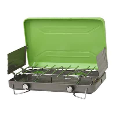 2-Burner High Output Portable Table Top Propane Camping Stove