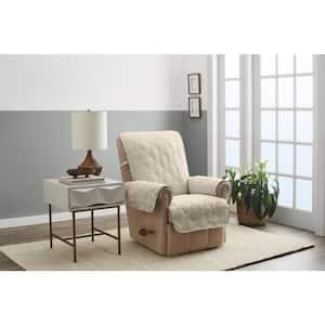 Hampton Sand 1-Piece Diamond Secure Fit Recliner Furniture Cover