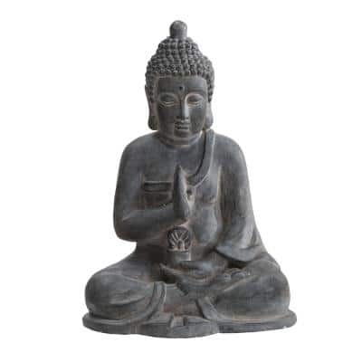 Atlanta Gray Decorative Buddha Garden Decor Statue