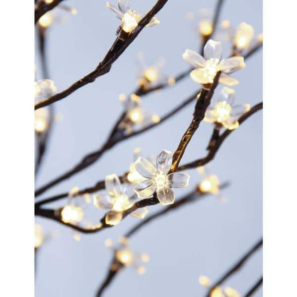 Lightshare 6 Ft Pre Lit Cherry Blossom Tree With 208 Warm White Lights Xths208b6ft Ww The Home Depot